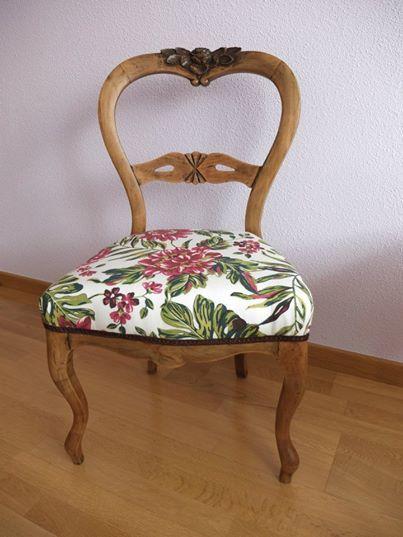 Restauraci n y tapizado de silla de m n https www - Restauracion muebles vintage ...