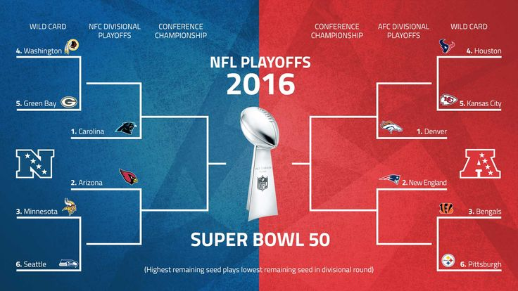 The NFL conference championship games are nearly set, with the NFC matchup finalized and the Patriots awaiting their opponent. All roads point to Super Bowl 50. Here is your playoff schedule, along with NFC and AFC matchups.