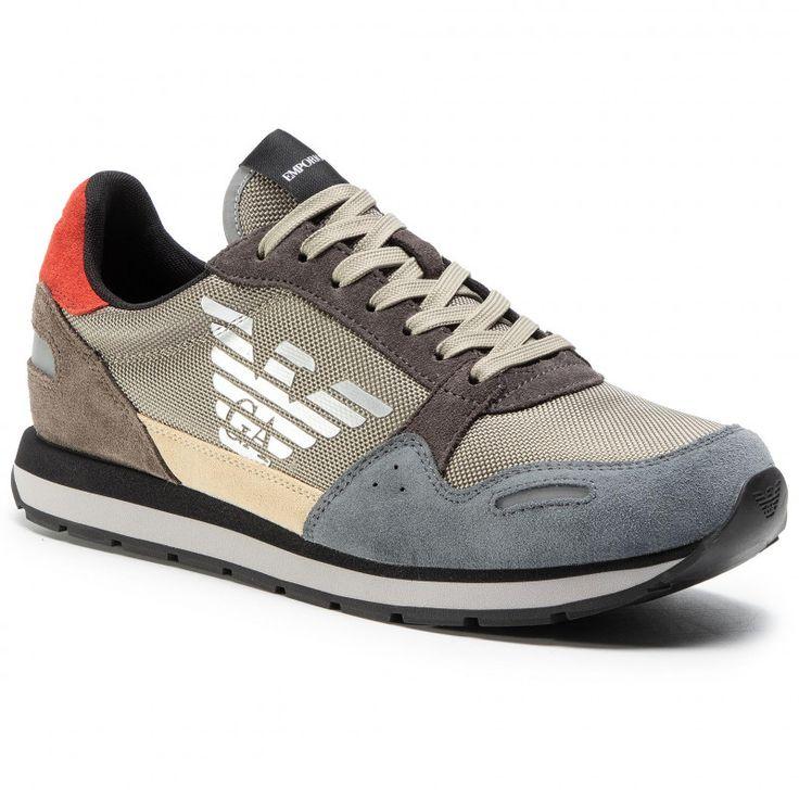 Sneakersy Emporio Armani X4x215 Xl200 N062 Castler Sand Bronze Sneakersy Polbuty Meskie Eobuwie Pl Emporio Armani Sneakers Dc Sneaker