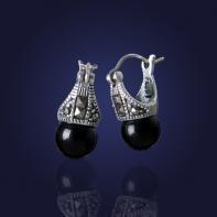 kolczyki, srebrne, biżuteria srebrna, Swarovski