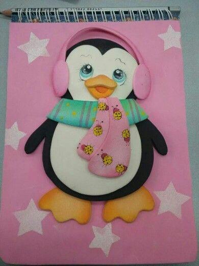 Cuaderno decorado pingüino