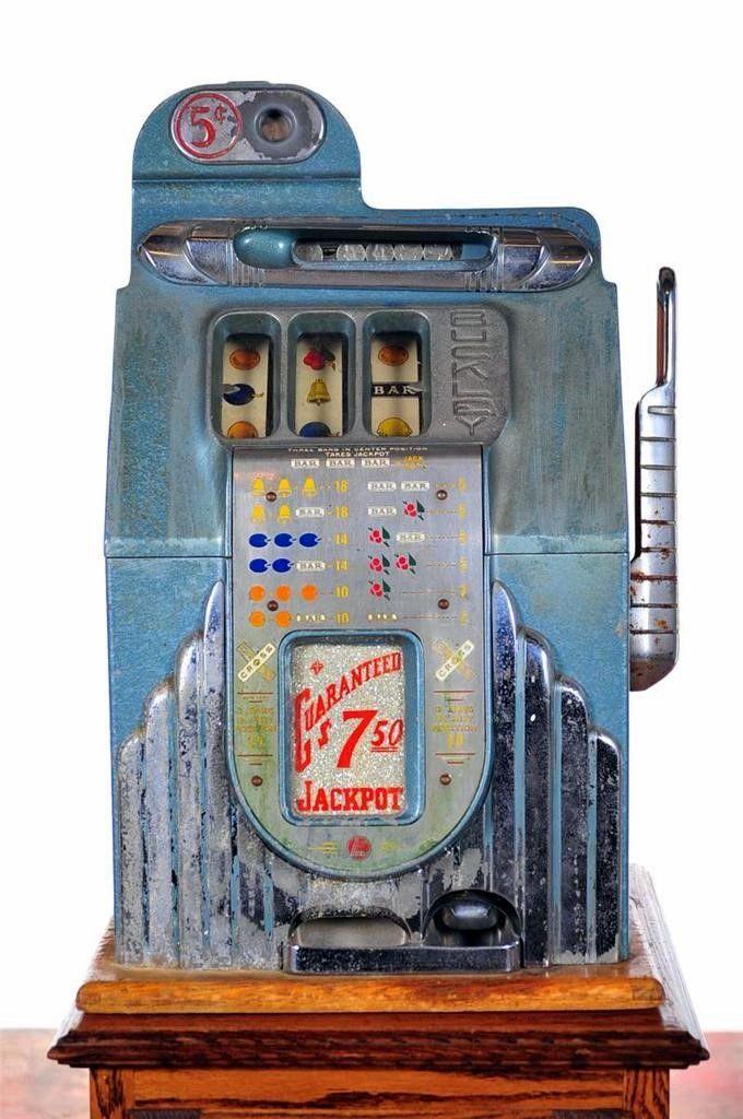 Buckley Original 1930s Art Deco 5 Cent Slot Machine Id