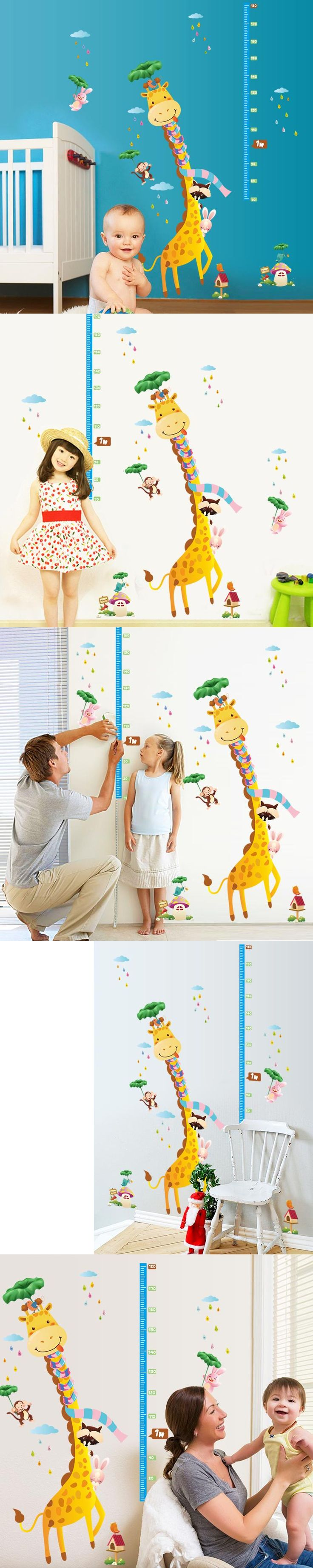 The 25 best giraffe height ideas on pinterest jungle nursery removable vinyl giraffe height chart wall decal colorful hot sells wall decals home decorations diy pvc amipublicfo Image collections