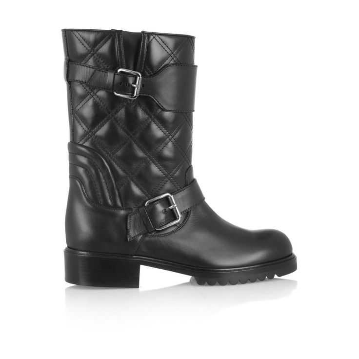 Marc Jacobs women's quilted leather biker boots