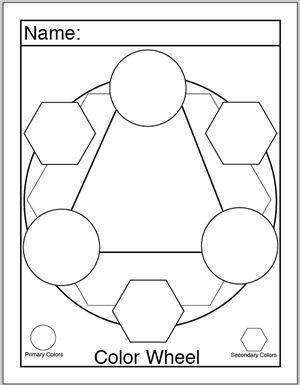 color wheel worksheet kindergarten Google Search