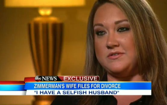 "George Zimmerman's Wife On Why She Filed For Divorce: He Felt ""Invincible"" After Verdict Shellie Zimmerman says her husband felt invincible and was selfish and verbally abusive after he was found not guilty in the death of Trayvon Martin."