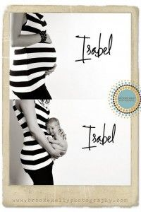 creative maternity and newborn photo idea