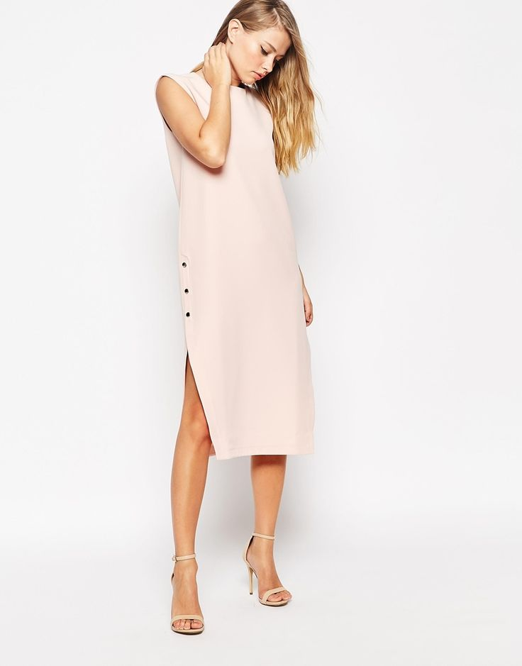 ASOS+Popper+Side+Clean+Column+Dress