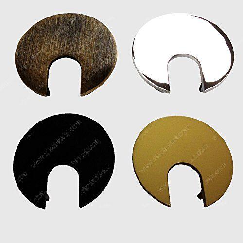 2 Metal Desk Grommet – Color: Black – 100 Pieces Color: Black Size: 100 Pieces Model: GR-ED-MET-2-100-BK