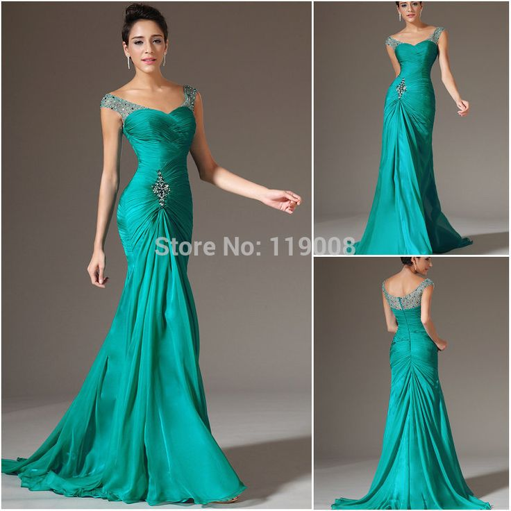 Cheap Evening Dresses, Buy Directly from China Suppliers:	Best Selling Mother Of The Bride Dress Green Long Prom Party Dresses Beads Crystal Mermaid Evening Gowns Floor Length D