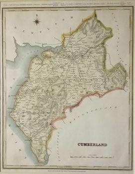 Antique Maps | UK England | Cumberland | Map by Creighton & Walker (Ref 1000194)