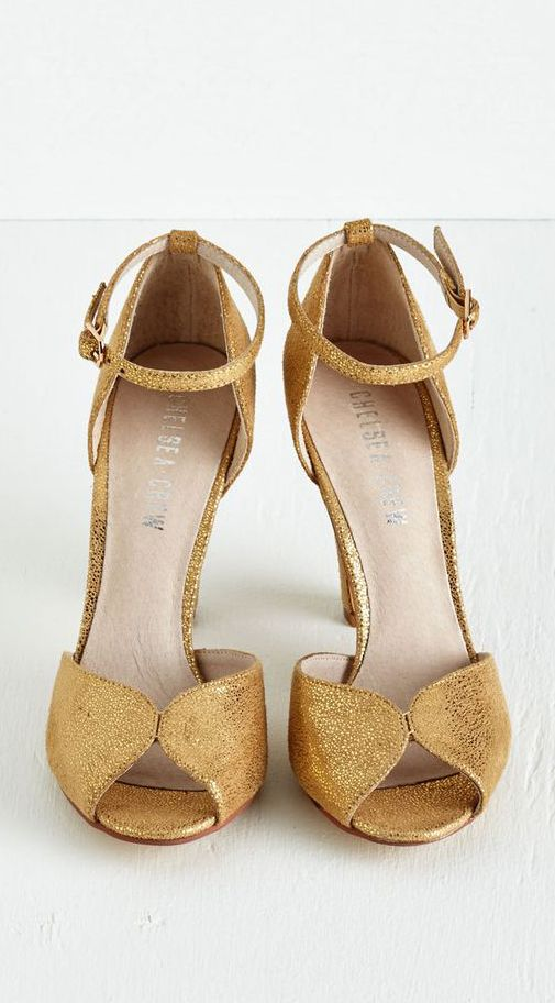 Gold Retro Heels