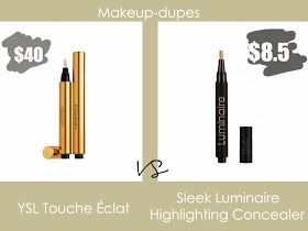 Makeup dupes: YSL touche eclat dupe