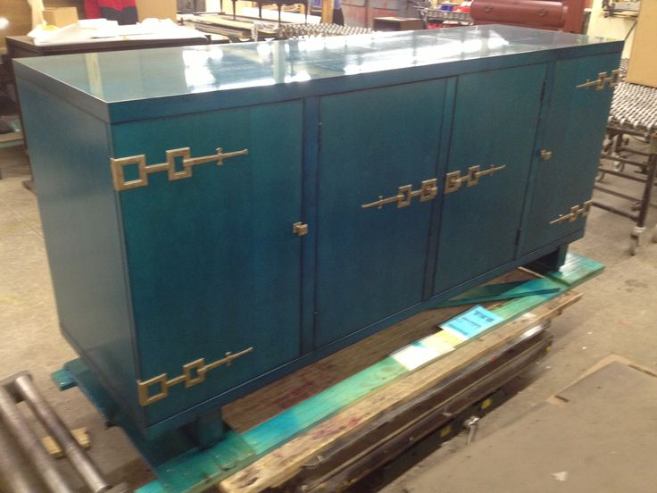 609-403 Chinese Credenza from Oscar de la Renta Collection in Sapphire finish! WOW!