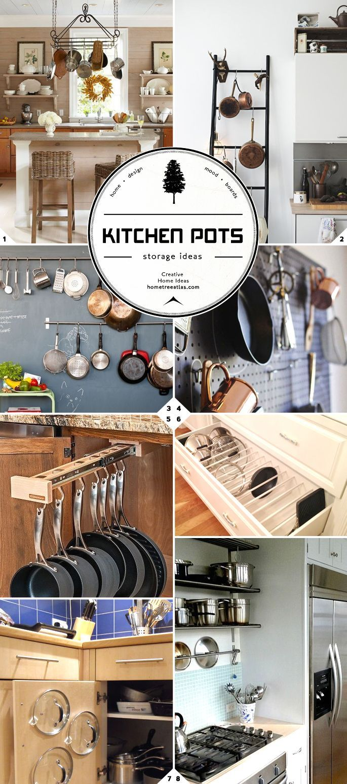 Kitchen Storage and Organization Part 2: Pot and Pan Storage Ideas (and Lids)