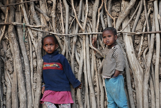 Boy and girl in Tanzania