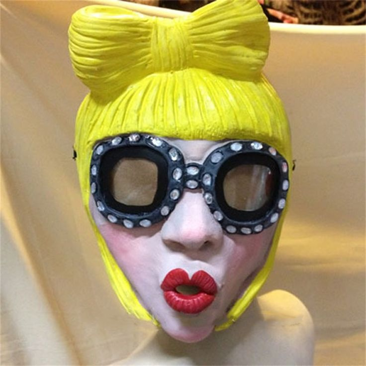 Lady Gaga Party Halloween Latex Rubber Mask Cosplay Costume Full Face Masks Woman Man Children Mask Anonymous Masquerade