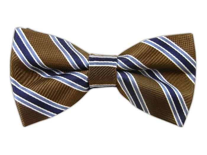 - Bella Stripe - Chocolate (Bow Ties)