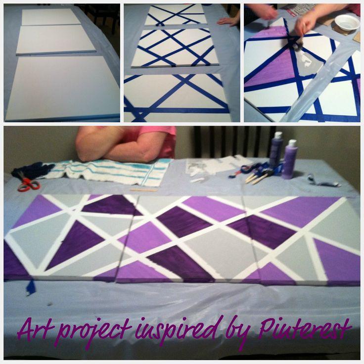 tape art canvas masking tape paint art chili rec crafts pinterest. Black Bedroom Furniture Sets. Home Design Ideas