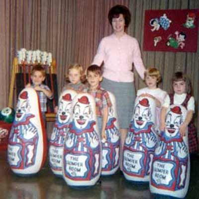 Romper Room (AND I had one of those clown punching bag things with the sand in the bottom of it)