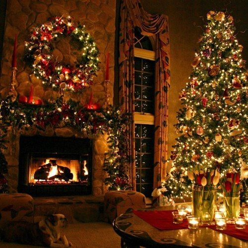 Best 25+ Christmas fireplace ideas on Pinterest | Christmas mantle ...