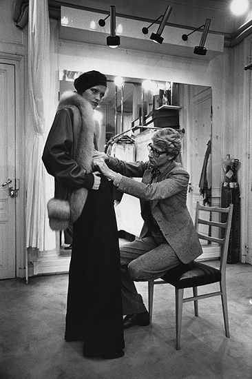 1973 - Yves Saint Laurent at work by Marc Riboud