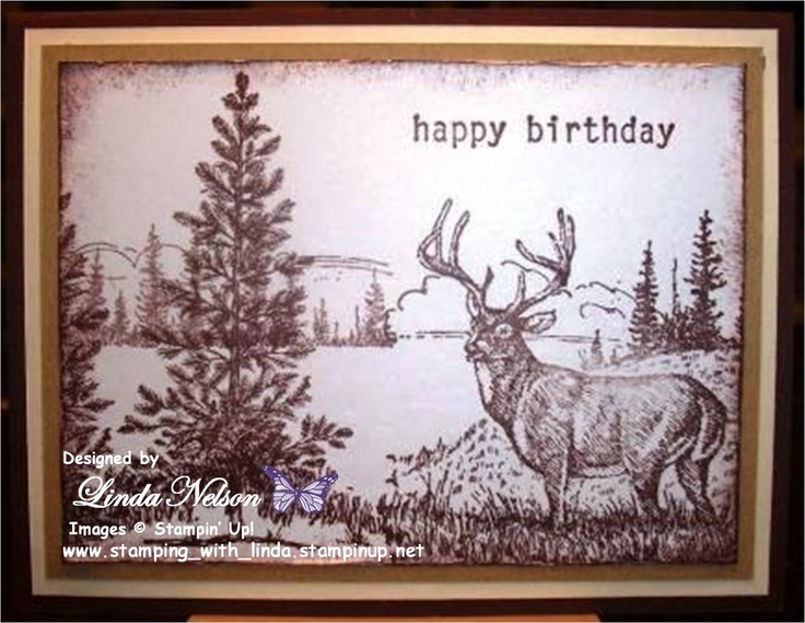Please let me know if you'd like to purchase this or any of my other cards. I made this with my Noble Deer, Beautiful as a Tree, and Birthday Whimsey stamp sets. Linda Nelson Linda's Creations Cards and Crafts www.lindascreationscardsandcrafts.com 360-326-8820