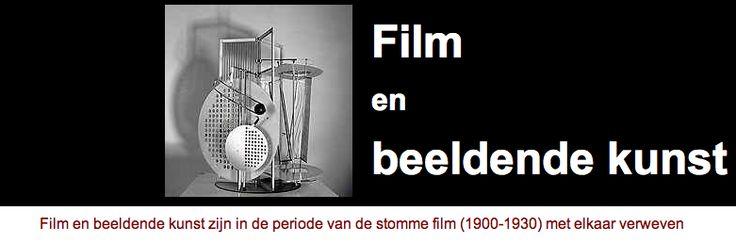 film had in beginjaren nog geen traditie en visuele kunstvormen zoals theater, beeldende kunst en fotografie zijn tijdens periode stomme film met elkaar verweven. onderwerpen:Tijd & beweging. http://oud.digischool.nl/ckv2/moderne/filmbeeldend/film_en_beeldende_kunst.htm
