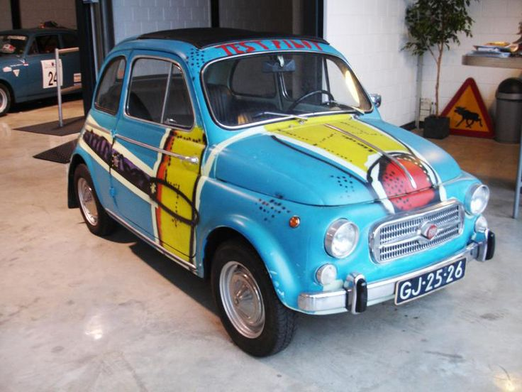 FIAT 500 Nouva D Herman Brood painted this car :)