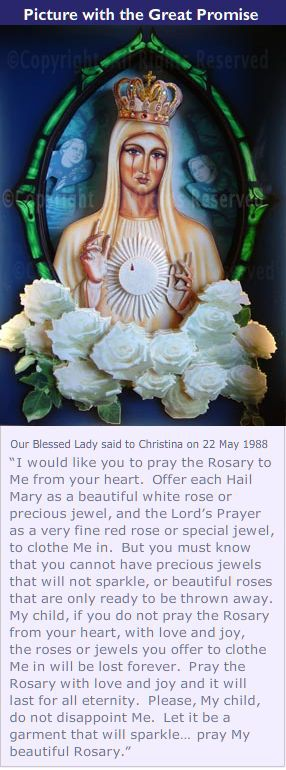 Our Lady Queen of Peace with Roses