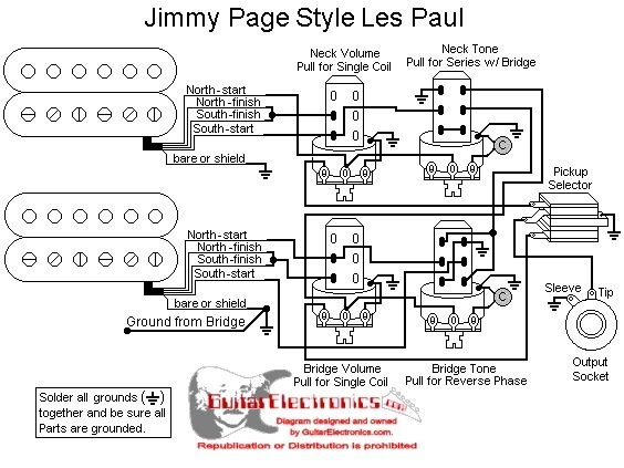 pickup wiring diagram jimmy page les paul wiring diagram jimmy page