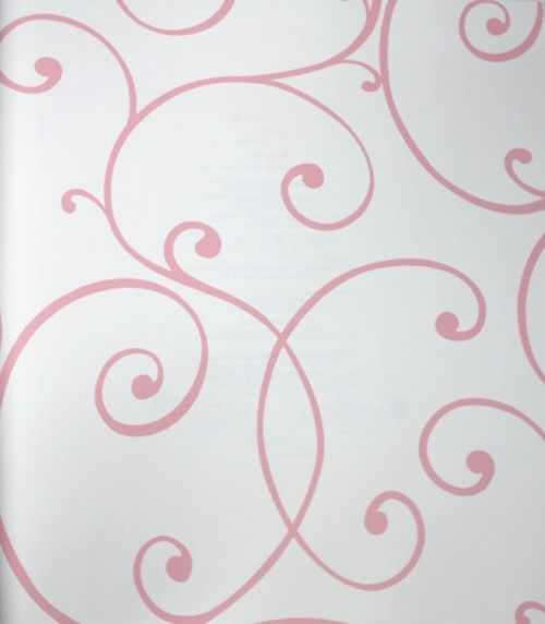 Swirls and Curls Pink Petal Kids Wallpaper | designyourwall.com