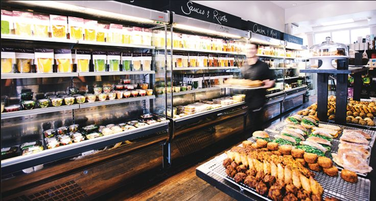 Reinventing the ready made meal in a clear plastic bag,  this award winning neighbourhood grocer provides delicious, fresh, restaurant - quality,  hand - prepared foods free from artificial. Here all all the ingredients for the ultimate stress free dinner. This is a GREAT option to pick up dinner to eat at home without having to cook when you can't face going out to eat. Good quality vs price ratio.