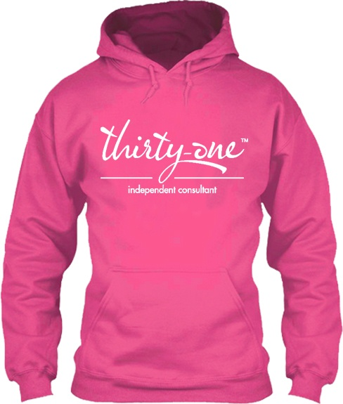 Hot Pink Thirty-One Logo Hoodie