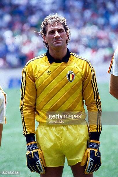 1986 FIFA World Cup in Mexico JeanMarie Pfaff * Football player goalkeeper Belgium goalie of the national team JeanMarie Pfaff in the Belgian lineup...