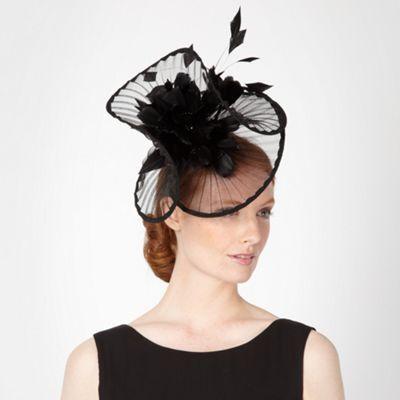 Star by Julien Macdonald Designer black pleated twist feather hair piece- at Debenhams.com
