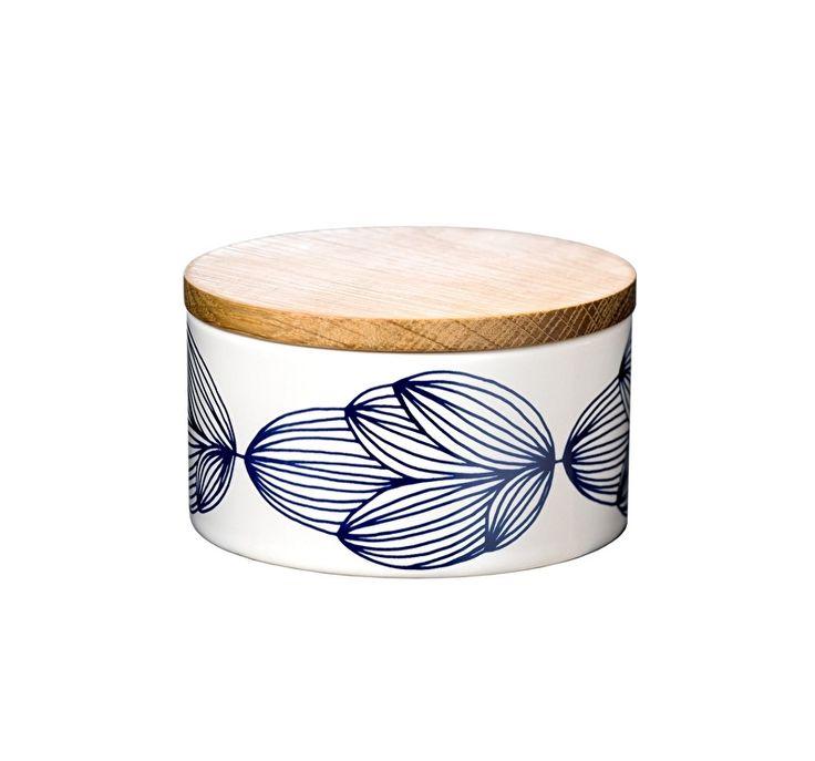 Helbak Pome Pome ronde botervloot of voorraadpotje in donker blauw / mint / petrol