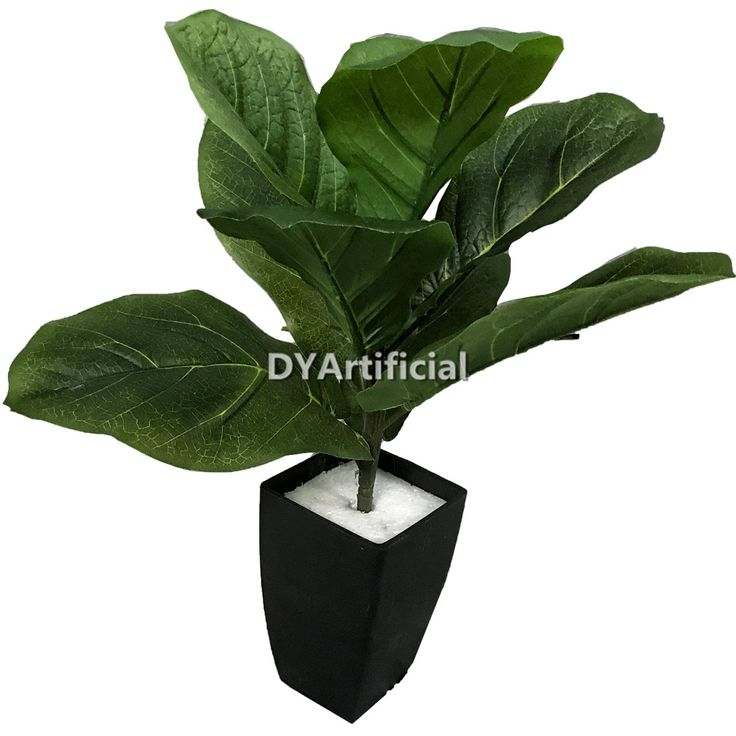 45cm Outside UV Protection Artificial Ficus Pandurata Bush Tree | Fiddle Fig Leafs Trees