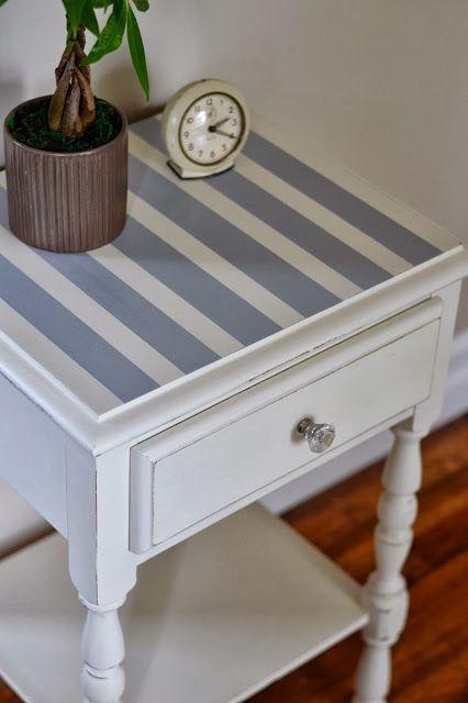 Shabby Love: Striped Table Redo