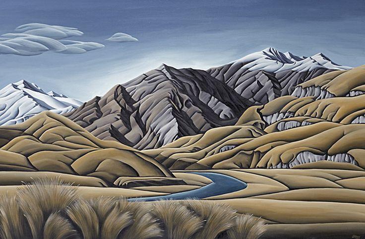 Aspiring Land 2 by Canterbury artist, Diana Adams. Artprints available from www.imagevault.co.nz