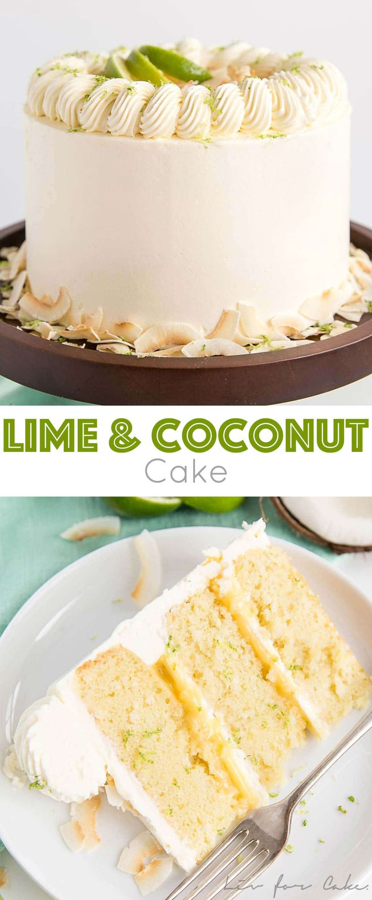 This Lime & Coconut Cake evokes the very best of t…