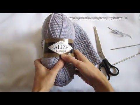 Вязание спицами. Шапка жемчужным узором. Шапка бини.