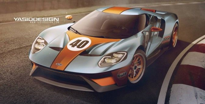 2016 Ford GT Gulf Edition Concept > Constructeur : Ford - Supercharged