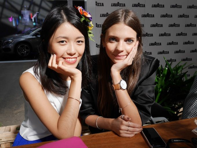 With lovely Connie from K is for Kani at Fashion Week 2014 // Spin Dizzy Fall