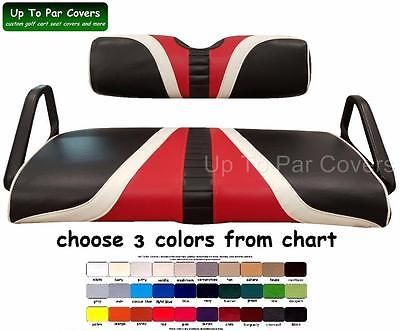 E-Z-Go TXT Hole-In-One Custom Golf Cart Seat Cover -Set Staple On