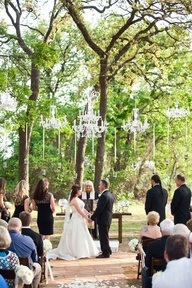 chandeliers  outdoor wedding