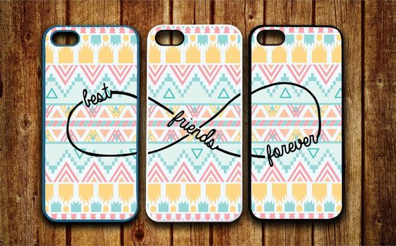 3 iPhone 5/5S, iPhone 5c, iPhone 4 4s, Samsung Galaxy S3 S4 case Aztec Pattern Best friends BFF Infinity Design personalized Protective Case on Etsy, $38.99