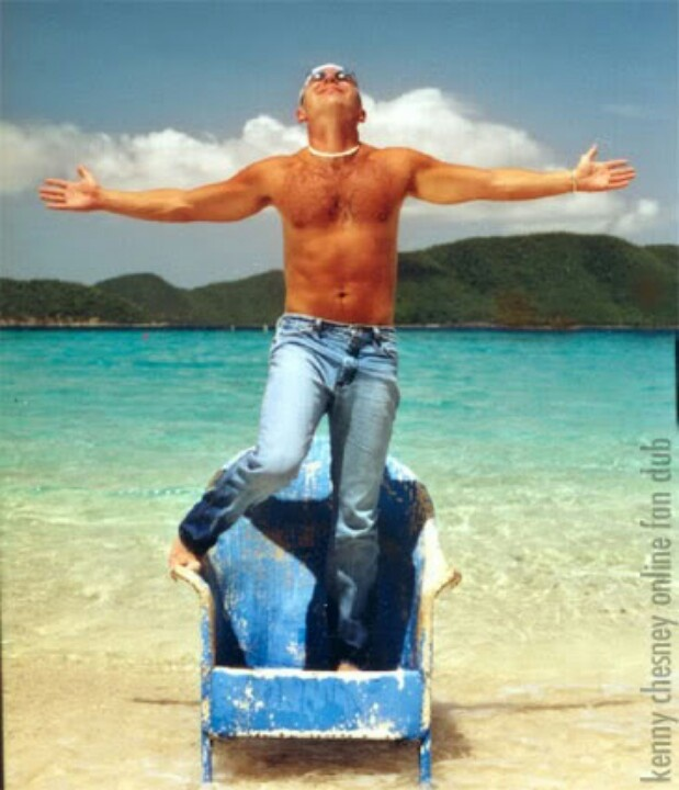 Kenny Chesney on the blue rocking chair. One of my favorite songs