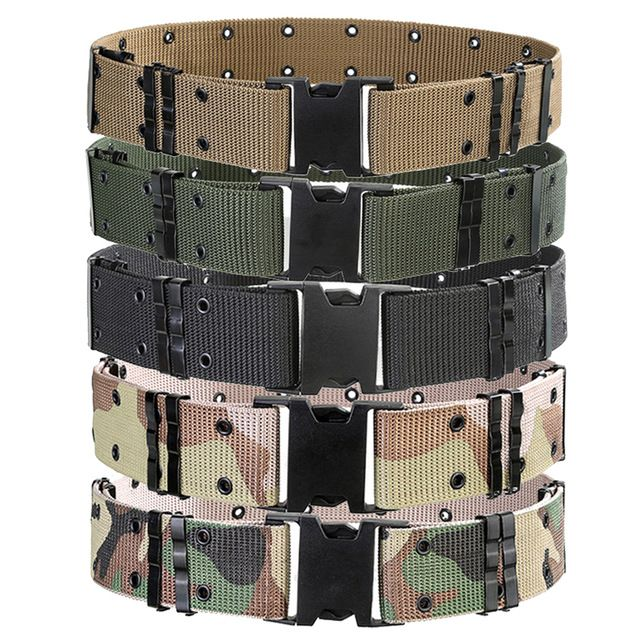 High Quality Outdoor Belts Men Tactical Military Equipment Army Outer Waistband Nylon Thicken Combat Buckle Belts Wide 5.5cm