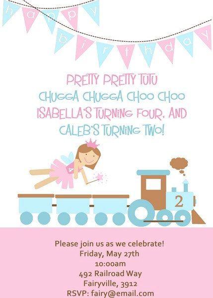 Best Girl Train Birthday Ideas On Pinterest Girl Train - Invitation birthday party girl